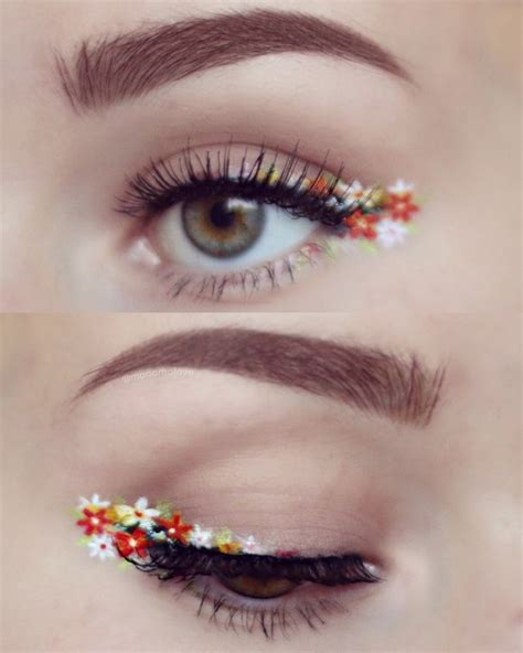 flower pattern in eyes i m gonna pop your bubblegum heart make up pinterest
