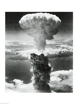 mushroom cloud formed by atomic bomb explosion, nagasaki