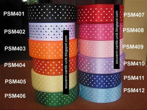 Kalung Pita Kucing Anjing Custom pita satin totol 1 inch per rol souvenir cantik