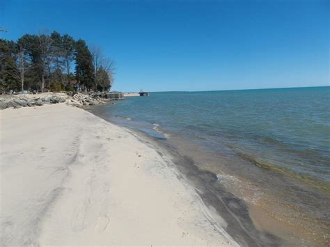 friendly beaches in michigan landing bay on lake huron sugar sand