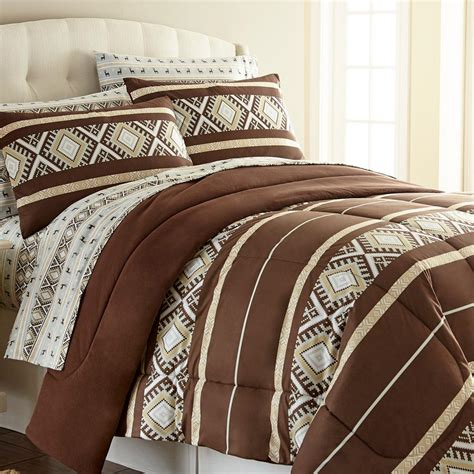 micro flannel comforter micro flannel reindeer stripe full queen 4 piece comforter