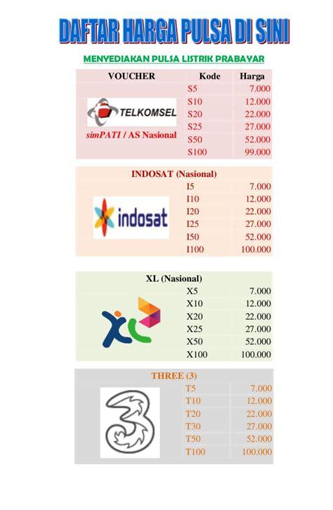 Pulsa Listrik Prabayar 100 000 pulsa untuk kartu telkomsel harga khusus
