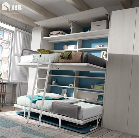 space saving bunk beds bunk desk bed wall bed with desk