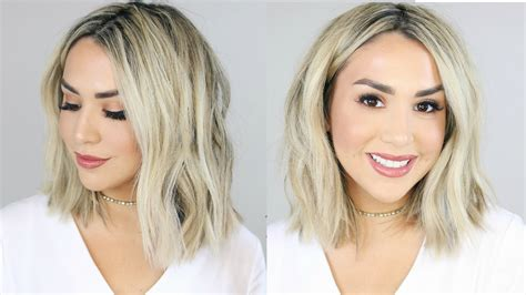video how to get a long bob beach waves instyle big messy beach waves long bob youtube