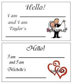 free printable bridal shower name tags 1000 images about bridal shower ideas on pinterest