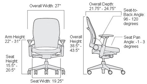 Office Chair Measurements by Desk Chair Plan Dimensions Www Imgkid The Image