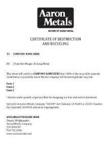 Certification Of Destruction Letter Letter Destruction Sample Fill Online Printable Fillable Blank Pdffiller