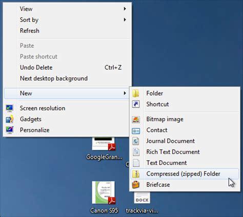 create a compressed zip folder archive in windows 7 ask
