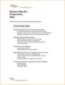 90 day sales plan template 4 30 60 90 day plan exle wedding spreadsheet