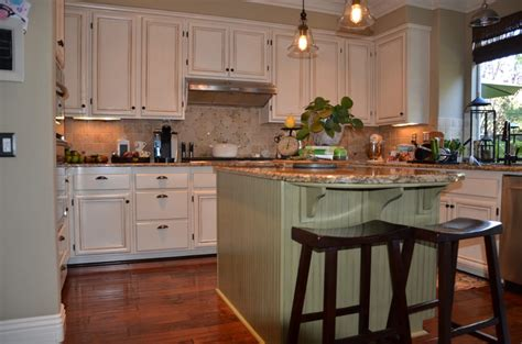 Antique Finish Kitchen Cabinets Antique White And Green Kitchen Cabinet Re Finish Yelp