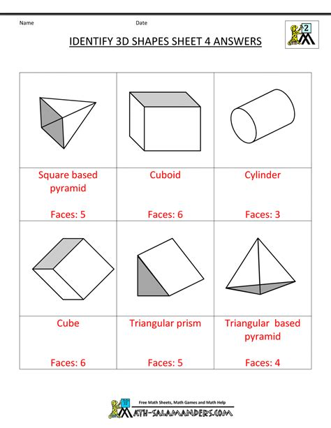 3d Shapes Worksheets by 3d Shapes Worksheets