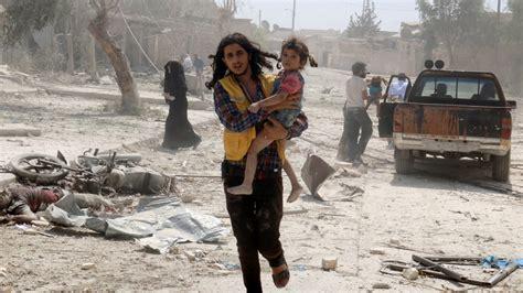 Syari Anes Syria War Dozens Killed While Attending Aleppo Funeral