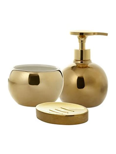 linea metallic gold bathroom accessories house of fraser