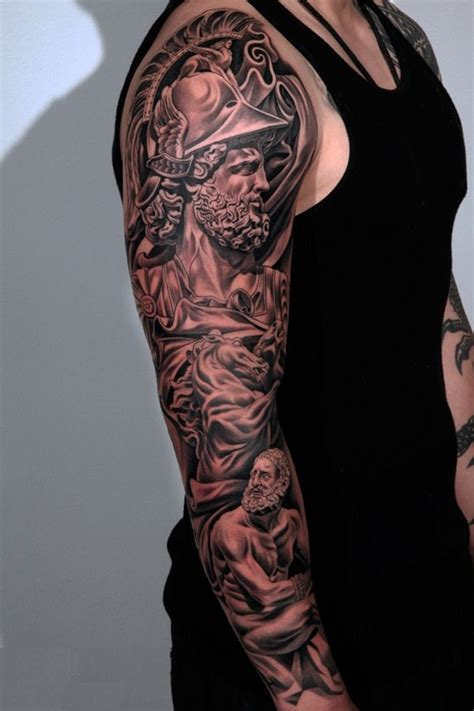 greek god sleeve tattoos tattoos designs ideas and meaning tattoos for you