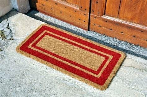 zerbino cocco zerbino cocco con bordo rosso outlet tappeti