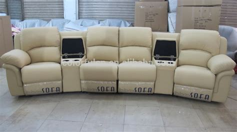 4 seat leather reclining sofa hereo sofa
