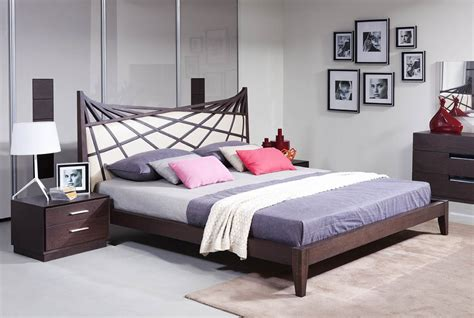 modrest prism modern brown beige bonded leather bed modern bedroom bedroom