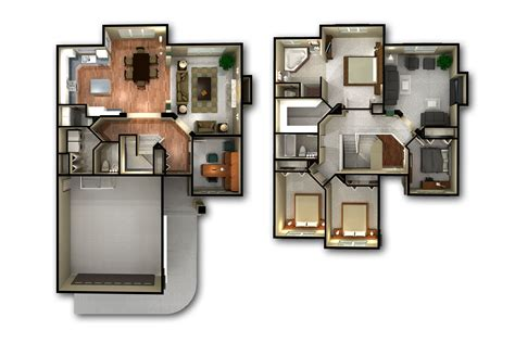 2 story apartment floor plans 2 story 3d floor plan and bedroom house plans storymodern