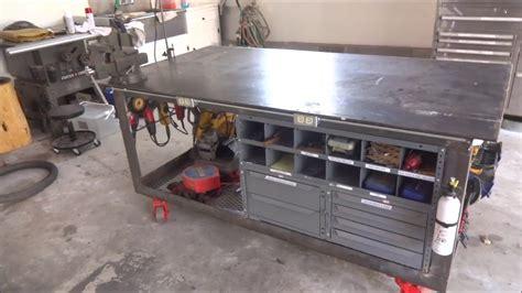 welding table workbench  tool storage youtube