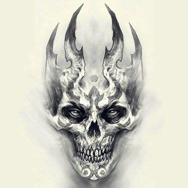 biomechanical skull tattoo design scary tattoos tattoo