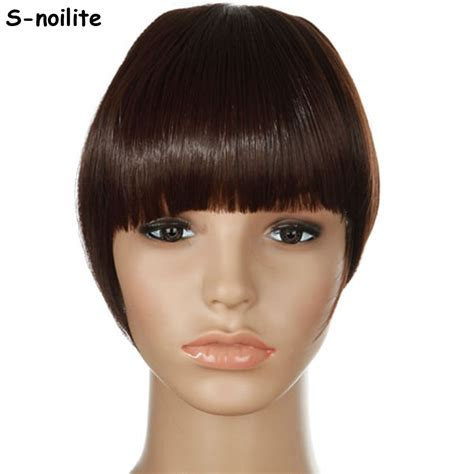 k mitchell short hairstyles with a soft bang aliexpress com buy s noilite women bangs short front