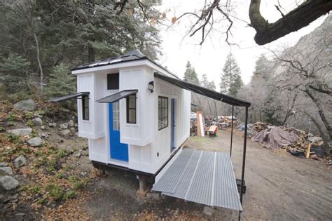pop up tiny house it looked like a run down shack in the woods then i saw