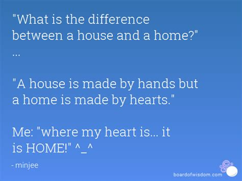 quot what is the difference between a house and a home