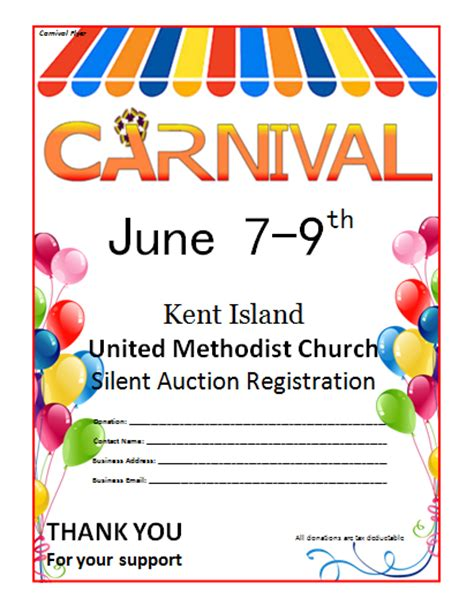 templates for carnival flyers 20 free carnival flyer templates demplates