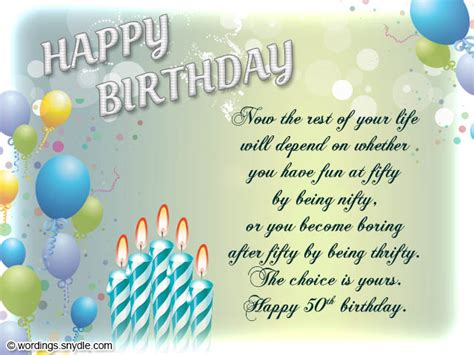 Words For A Birthday Card 50th Birthday Wishes Messages And 50th Birthday Card