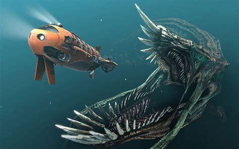 foto  ilustrasi monster laut hd  hewanpedia