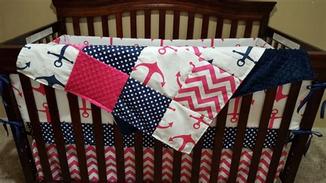 nautical baby girl bedding nautical baby girl crib bedding pink anchors navy dot pink