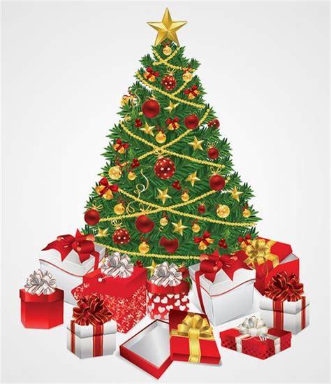 clipart christbaum weihnachtsbaum mit geschenken vektor illustration kostenlos vektorgrafiken clipart me