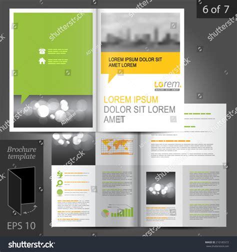 brochure layout text business vector brochure template design green stock