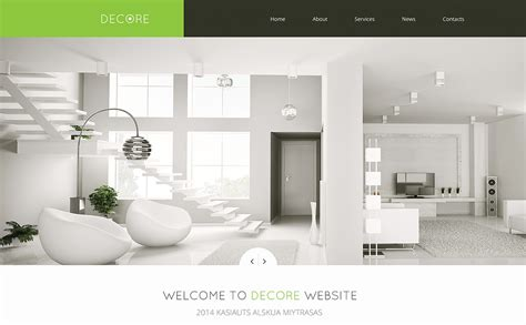 home decor websites online home decor responsive website template 46692