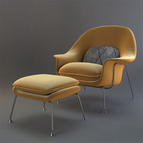 womb chair with ottoman saarinen womb chair and ottoman