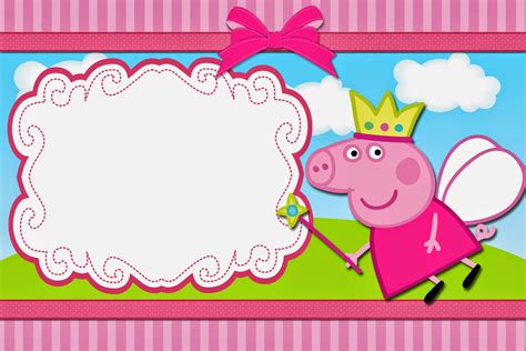 peppa pig printable birthday decorations peppa pig fairy free printable invitations oh my