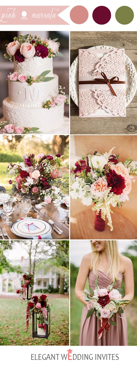 48 pink wedding color combination ideas