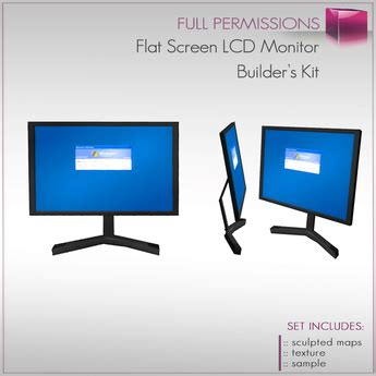 Monitor Flat Second second marketplace flat screen lcd monitor desktop monitor builder s kit set