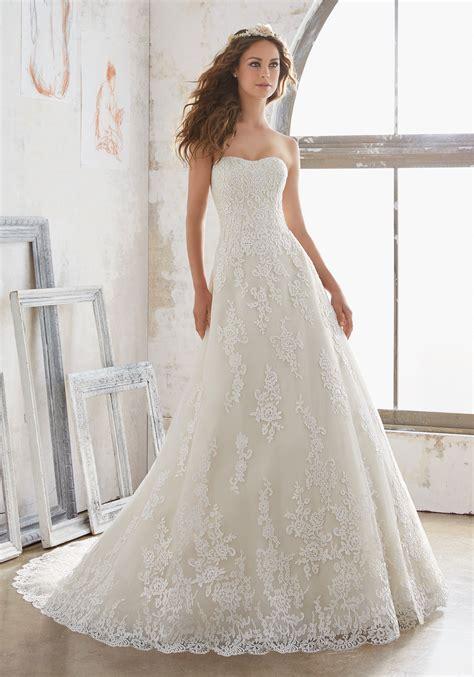 White 1 Wedding Dresses by Mariposa Wedding Dress Style 5502 Morilee