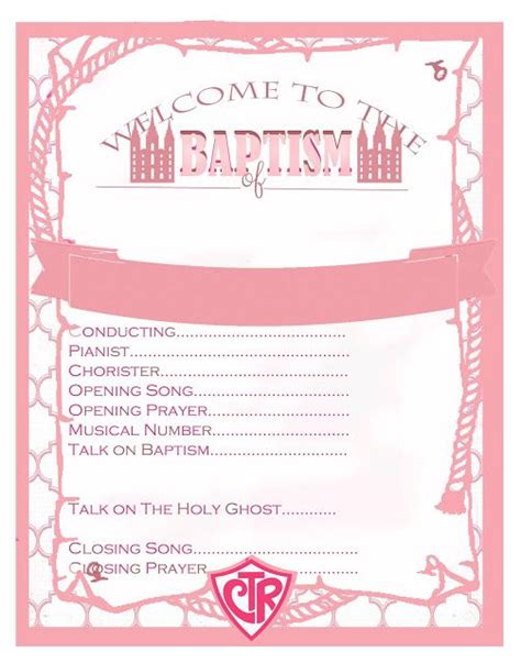baptism template lds 25 best ideas about baptism program on lds