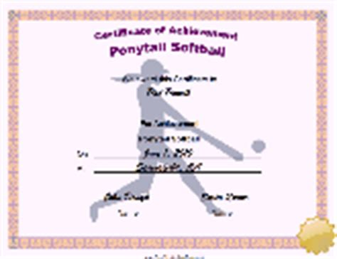 softball certificate templates free certificate of achievement printable certificate