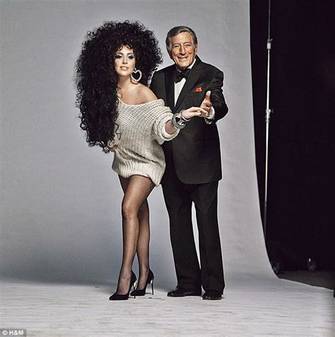 lady gaga tony bennett perform cheek to cheek on the lady gaga and tony bennett pose cheek to cheek in h m