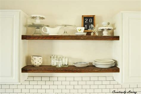22 amazing kitchen makeovers open shelving shelving and 20 amazing diy wood projects the happy housie