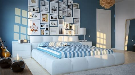 Interior Design Ideas For Blue Bedroom Blue And White Bedroom Design Home Pleasant