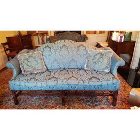chinese chippendale sofa pair of henredon natchez chinese chippendale sofas chairish