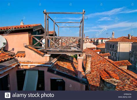 venice roof terrace altana venetian roof terrace stock photos altana
