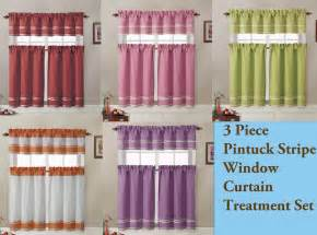 Kitchen Tier Curtains Sets 3 Pc Kitchen Window Curtain Set 2 Tier Panel Curtain 1 Valance Ebay