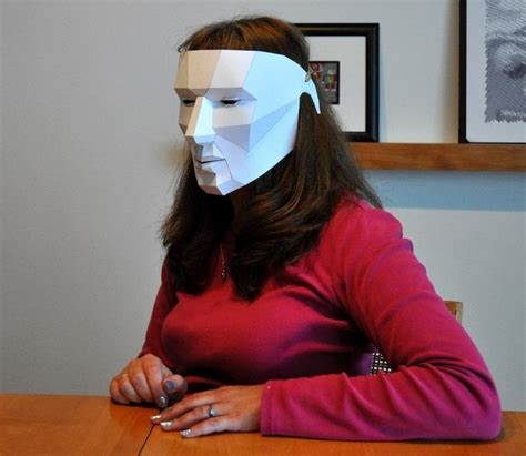 How To Make An Mask Out Of Paper Mache - how to make an easy last minute polygon mask for
