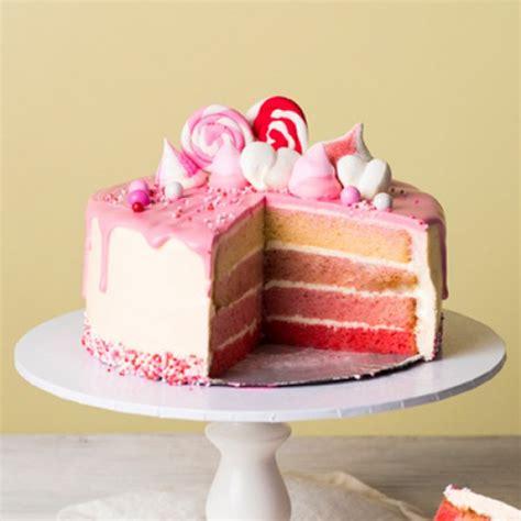Vanilla Thriller Pink Drip Cake