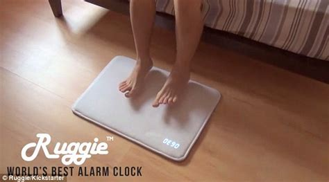 Alarm Clock Rug by The 99 Smart Alarm Rug That Only Stops Chiming When You